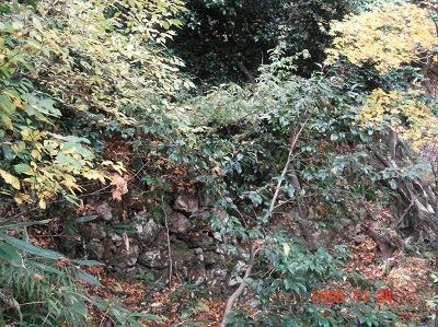 大堀切脇の石垣
