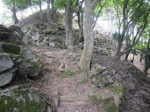 09搦手門跡と本丸石垣
