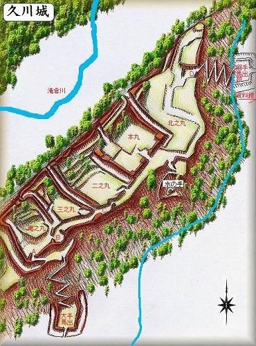 久川城縄張図