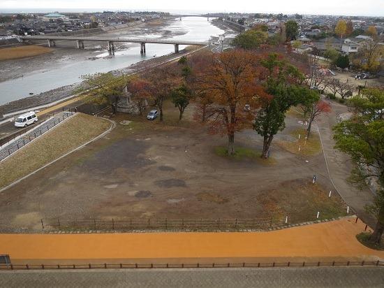 二の丸と高瀬川