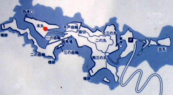 1獅子ケ城縄張図