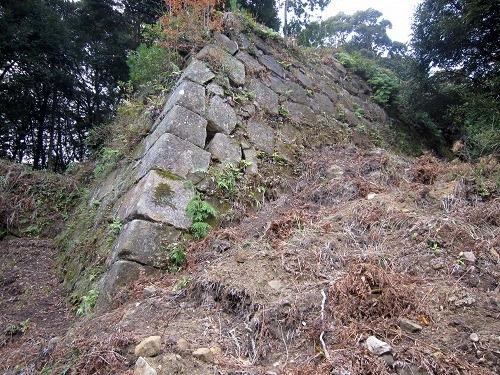 46井戸曲輪石垣