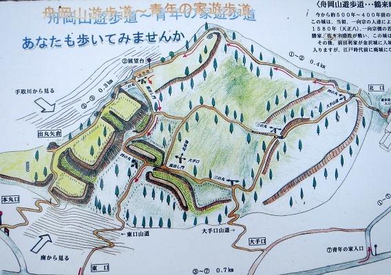 01舟岡城跡遊歩道案内図2