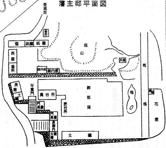 藩主邸平面図