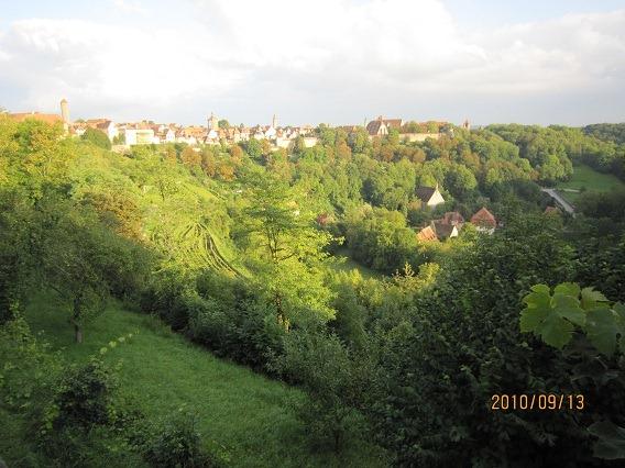 ブルクガルテンからシュピタール地区を見下ろす