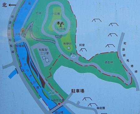 知覧亀甲城公園案内図