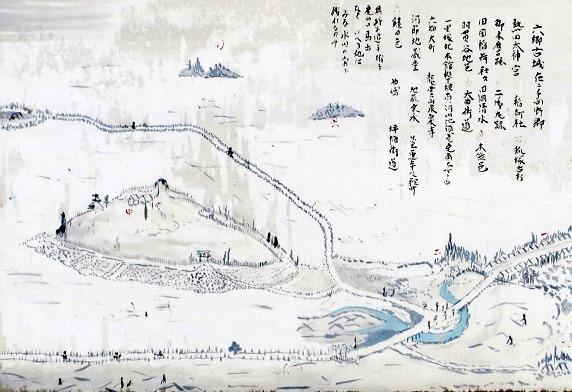 六郷城絵図