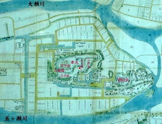 00延岡城古地図