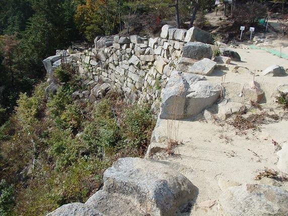 屏風折れの石垣3