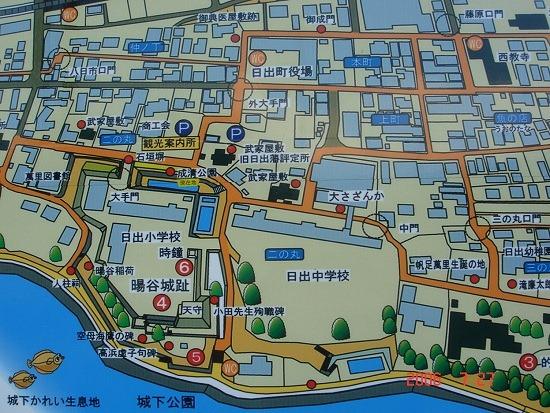 日出城附近の地図