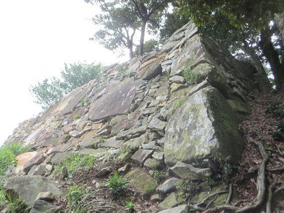 二の丸虎口南側の石垣