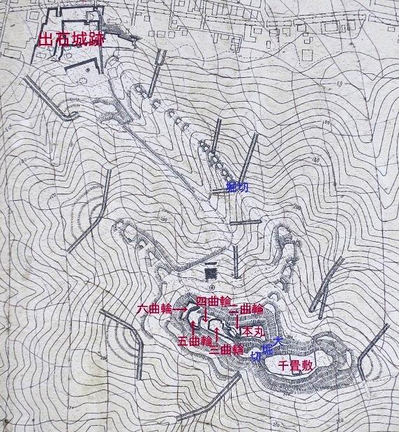 有子山城縄張図