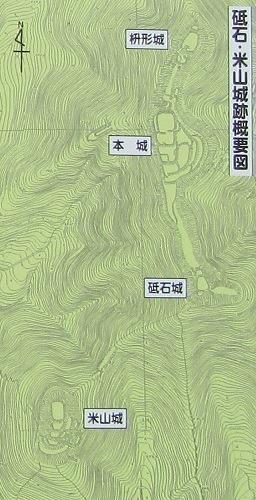 戸石城縄張図