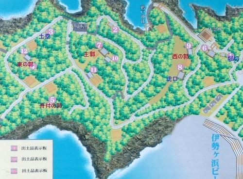 00日知屋城跡案内図