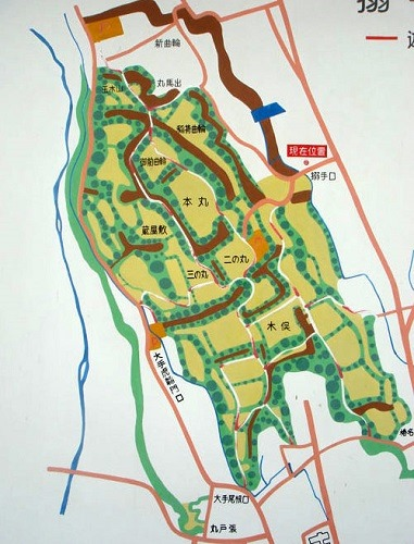 箕輪城縄張図