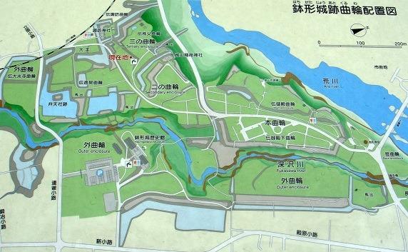 鉢形城縄張図