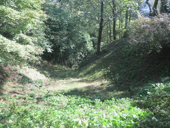 16本丸南側の堀から続く堀