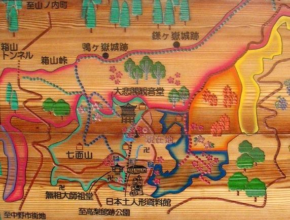 02鴨が嶽城案内図