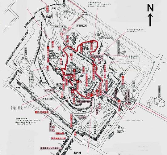 彦根城縄張図