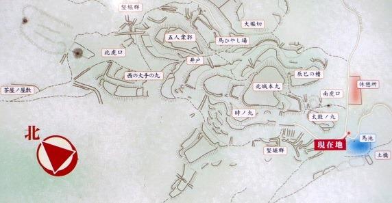 龍王山北城縄張図