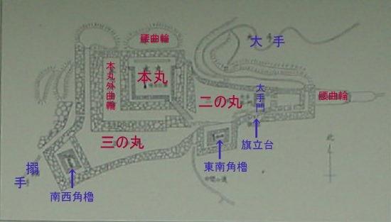 松倉城縄張図