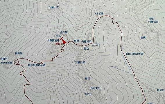 八木城縄張図