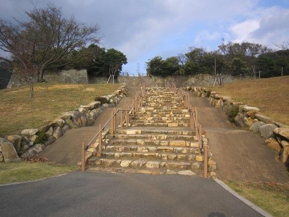 二の丸への石段
