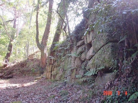 ニノ門付近虎口石垣