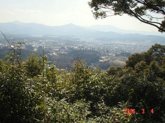 八幡台櫓跡からの眺望