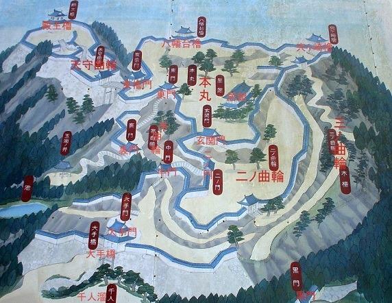 笠間城縄張絵図