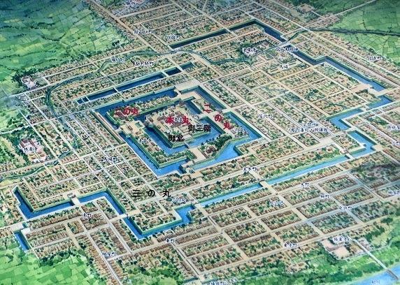 米沢城鳥瞰図