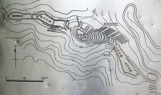 0若山城縄張図