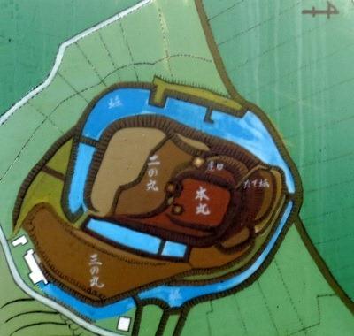 門川城縄張り略図