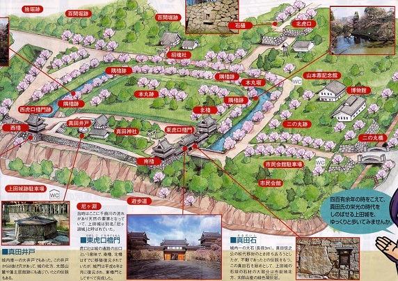 上田城絵図
