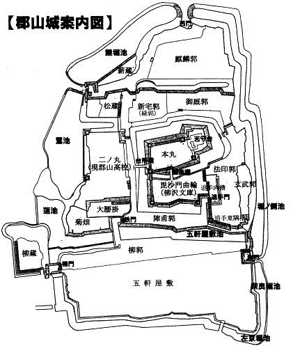 郡山城案内図