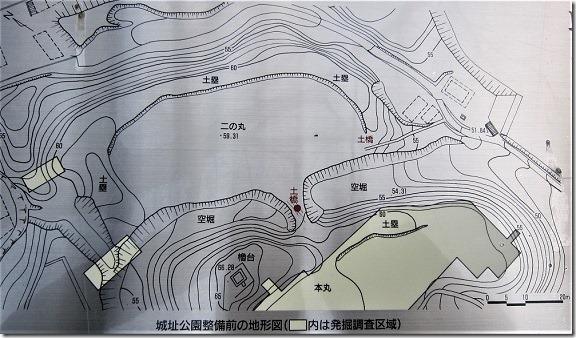 岩崎城縄張図