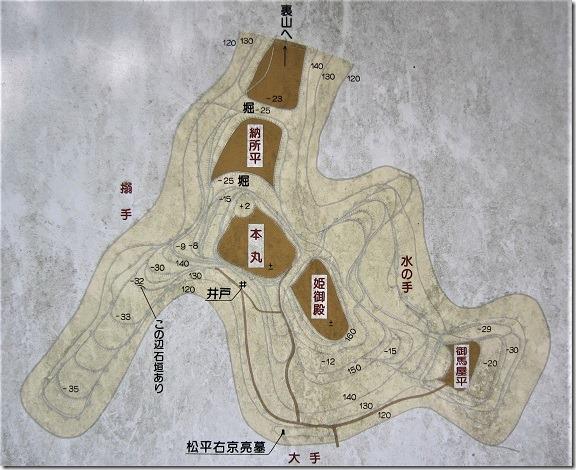 宇利城縄張図