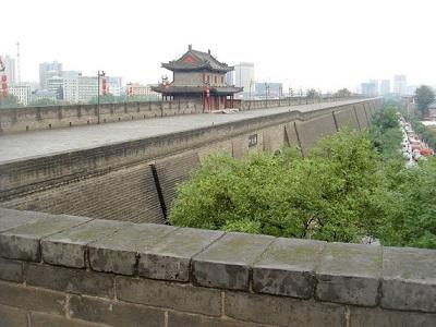 西安の城壁(陝西省西安市)